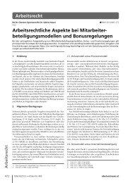 Arbeitsrecht - BARNERT EGERMANN ILLIGASCH Rechtsanwälte