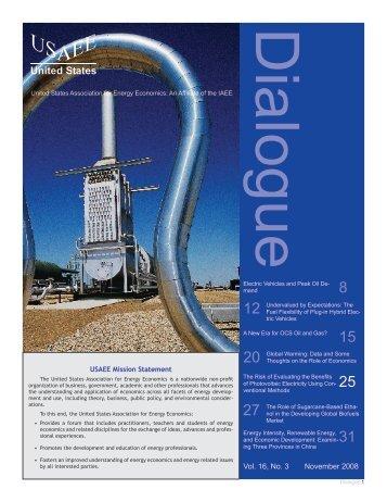November 2008 - United States Association of Energy Economics