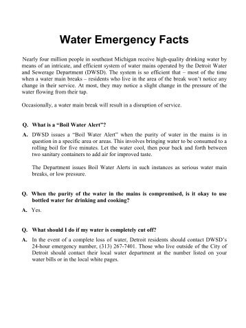 Sewage bonds detroit water and sewerage department water emergency facts detroit water and sewerage department publicscrutiny Image collections