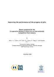 Improving the performance of the progeny of gilts - Pork CRC