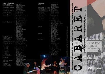 Crew & Creatives Cast List - Ardingly College