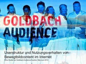 Titel Präsentation, Arial Regular, 30pt - Goldbach Audience