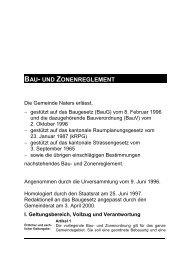 Bau- und Zonenreglement - Gemeinde Naters