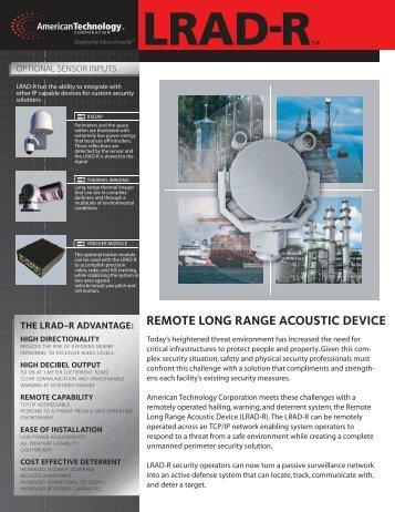 remote long range acoustic device - LRAD Corporation