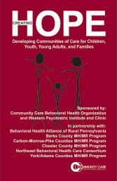 Developing Communities of Care for Children, Youth, Young Adults ...