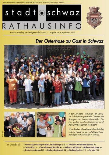 Der Osterhase zu Gast in Schwaz
