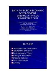 Basics - Missouri Economic Development Council
