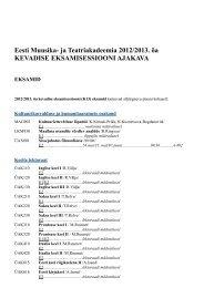 eksamid - Eesti Muusika- ja Teatriakadeemia