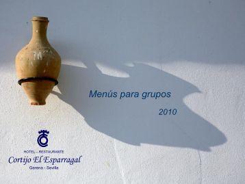 """2010 Group Menu - Hotel Cortijo """"El Esparragal"""""""