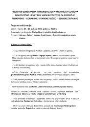 Program Intronizacija i promaknuće članova ... - Grad Kastav