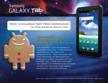 Android™2.3, Gingerbread Operating System - US Cellular