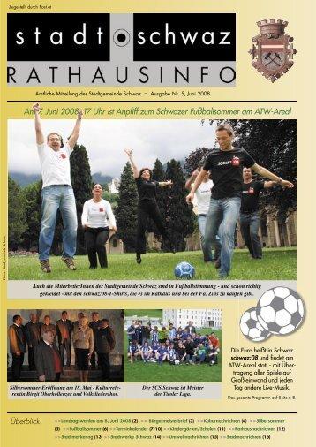 Rathausinfo Ausgabe Juni 2008 - Schwaz