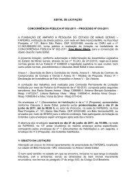 edital de licitação concorrência pública nº 002-2011 - Fapemig