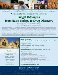Fungal Pathogens: From Basic Biology to Drug Discovery