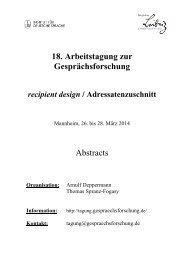 Abstracts - Institut für Deutsche Sprache