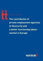 The contribution of private employment agencies to flexicurity ... - Ciett