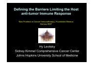 Defining the Barriers Limiting the Host anti-tumor ... - GLOBE Network