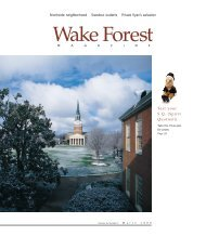 Spirit Quotient - Past Issues - Wake Forest University