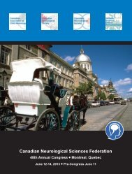 Download Program - Canadian Neurological Sciences Federation