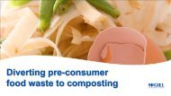 Diverting pre-consumer food waste to composting - NC Project Green