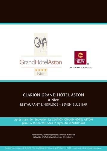 Dossier de presse 2011 (PDF 2 Mo) - grand hotel aston nice