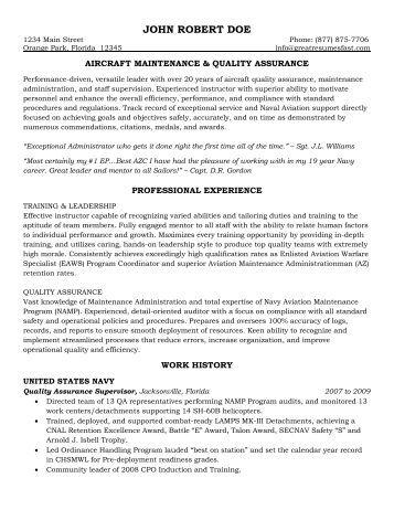 Aircraft Quality Assurance Resume Sanjran Web Fc2 Com