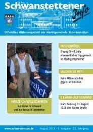 INFO August 2012  - Gemeinde Schwanstetten