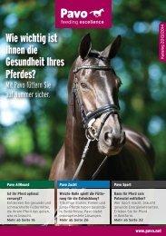 Wie wichtig ist Ihnen die Gesundheit Ihres Pferdes? - Pavo