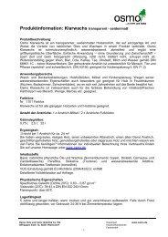 Produktinformation: Klarwachs transparent - seidenmatt - Osmo