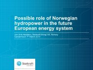 Possible role of Norwegian hydropower in the future ... - Energi Norge