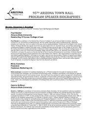 Speakers' biographies - Arizona Town Hall