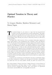 Optimal Taxation in Theory and Practice - American Economic ...