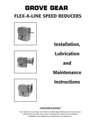 Flex-a-line speed reducers - Rainbow Precision Products, Inc.