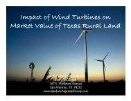 Impact of Wind Turbines on Market Value of Texas Rural Land