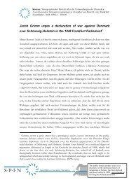 Jacob Grimm urges a declaration of war against Denmark over ...
