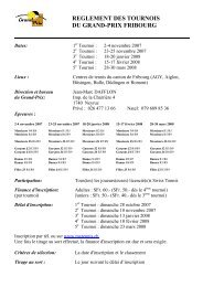 Mise au concours GP Fribourgx