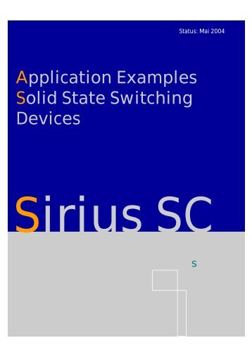 Application Examples Solid State Switching Devices - Siemens ...
