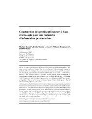 Construction des profils utilisateurs à base d'ontologie pour ... - APMD