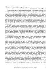 Definire i curricoli per competenze: qualche ... - Adrianocolombo.it