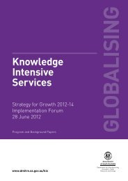Knowledge Intensive Services - DMITRE - SA.Gov.au