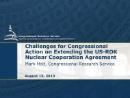 Challenges for Congressional Action on Extending the US-ROK ...
