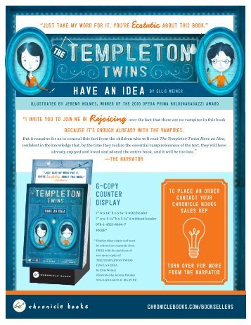 Tua and the elephant chronicle books the templeton twins have an idea chronicle books fandeluxe Image collections