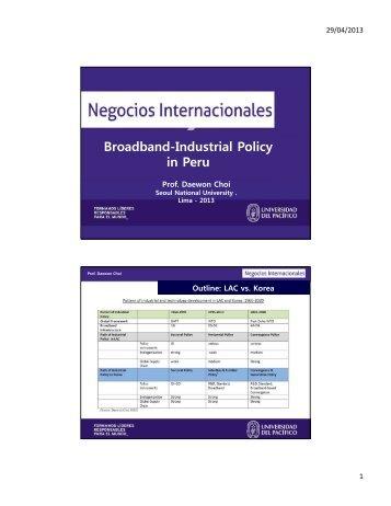 Broadband-Industrial Policy in Peru