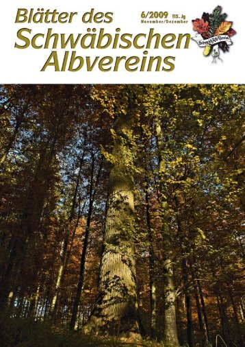 Blätter des Schwäbischen Albvereins Ausgabe 6/2009