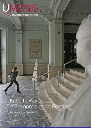 Faculté Warocqué d'Economie et de Gestion - Université de Mons