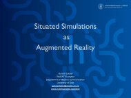 Situated Simulations as Augmented Reality