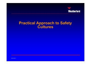 Practical Approach to Safety Cultures - DrillSafe