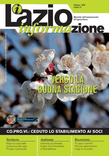 Lazio Informazione n. 31 - Agricoltura - Regione Lazio
