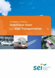 Strategies to Reduce Greenhouse Gases from Irish Transportation