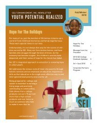 YOUTH POTENTIAL REALIZED - Self Enhancement, Inc.
